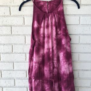 Anthropologie Dresses - Magenta Tie Dye Anthropologie Jumpsuit - Large
